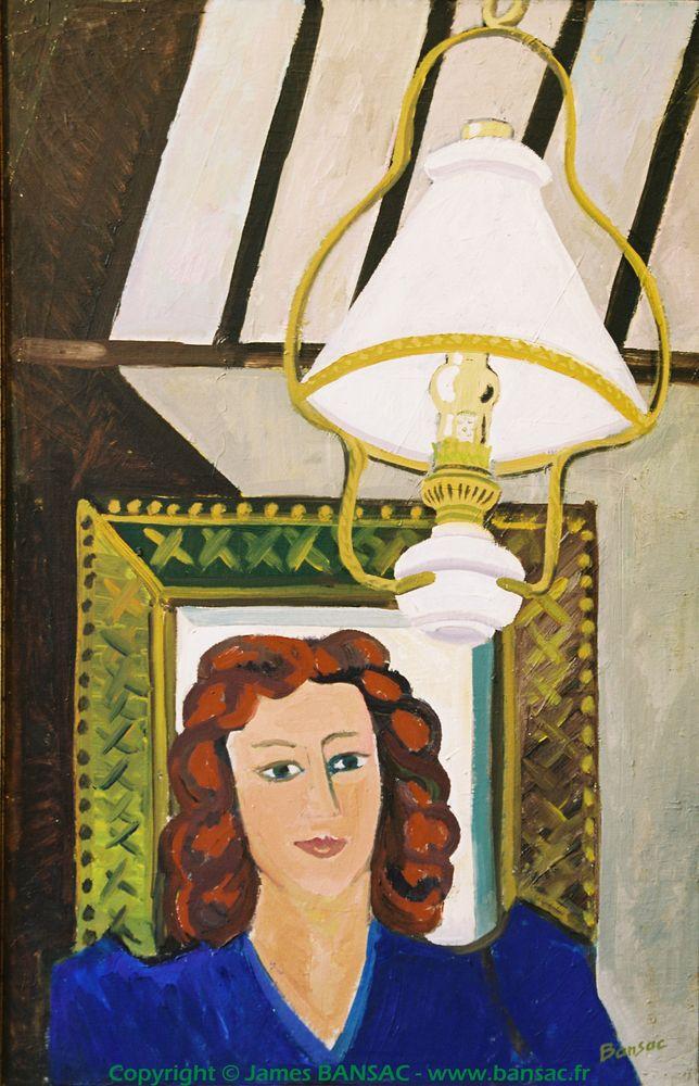 Atelier à la lampe à pétrole - 1945