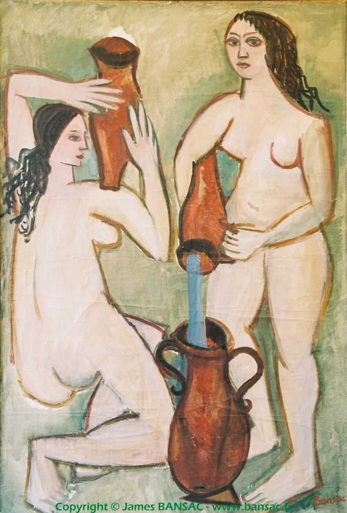 Deux nus aux cruches - 1948
