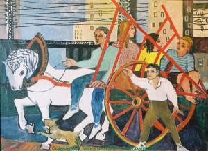 La charette des acrobates, Porte de Vanves, Paris - 1948