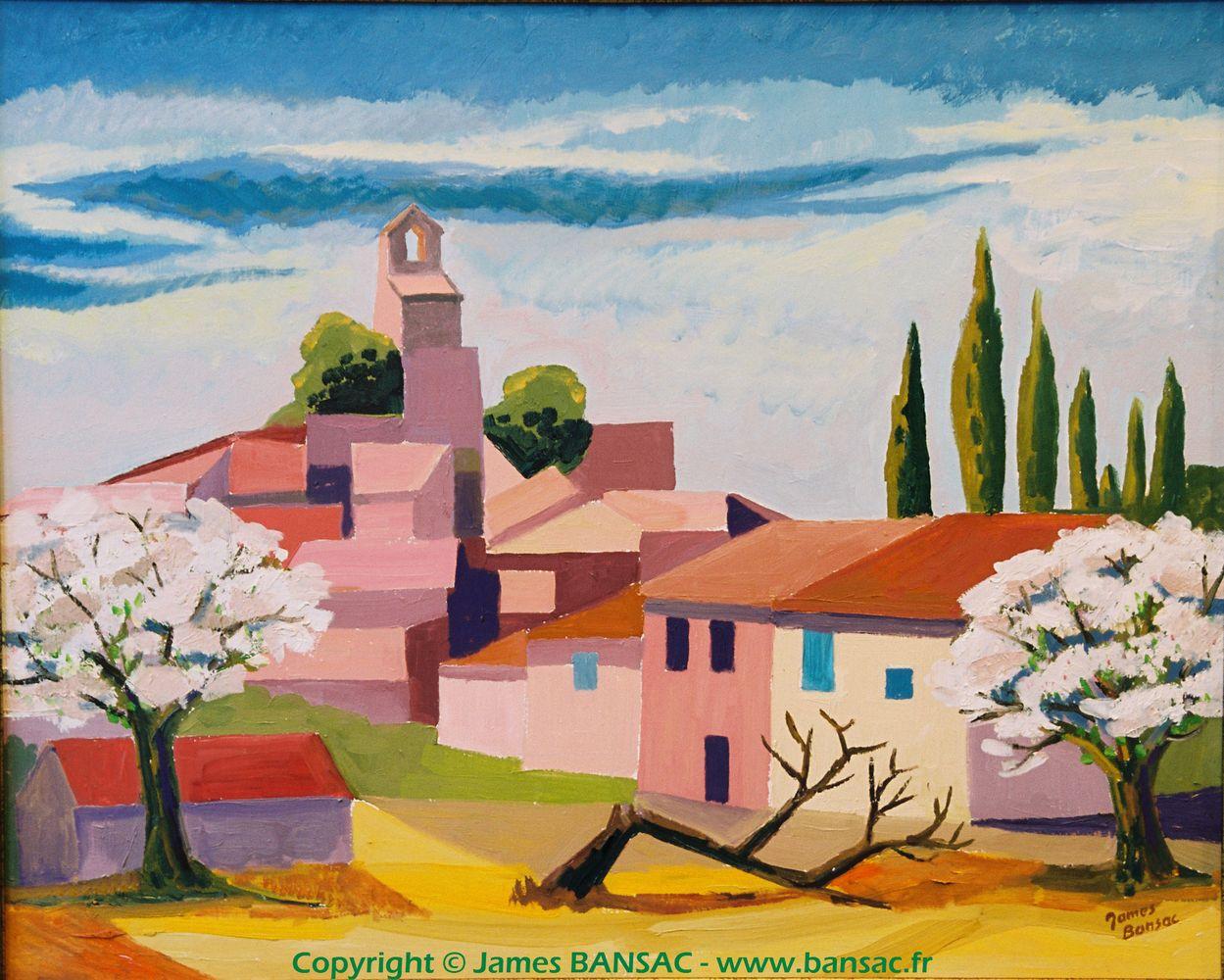 Lourmarin, les amandiers - 2004
