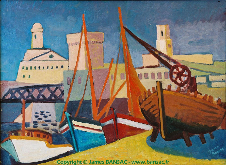 Marseille, bassin de carénage - 1948