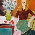 Myriam Joyce aux chardons - 1948