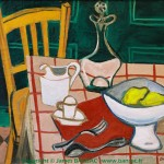 Nature morte : chaise orange - 1948