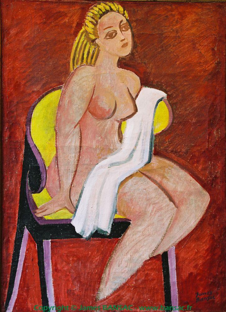Nu sur fauteuil jaune - 1949