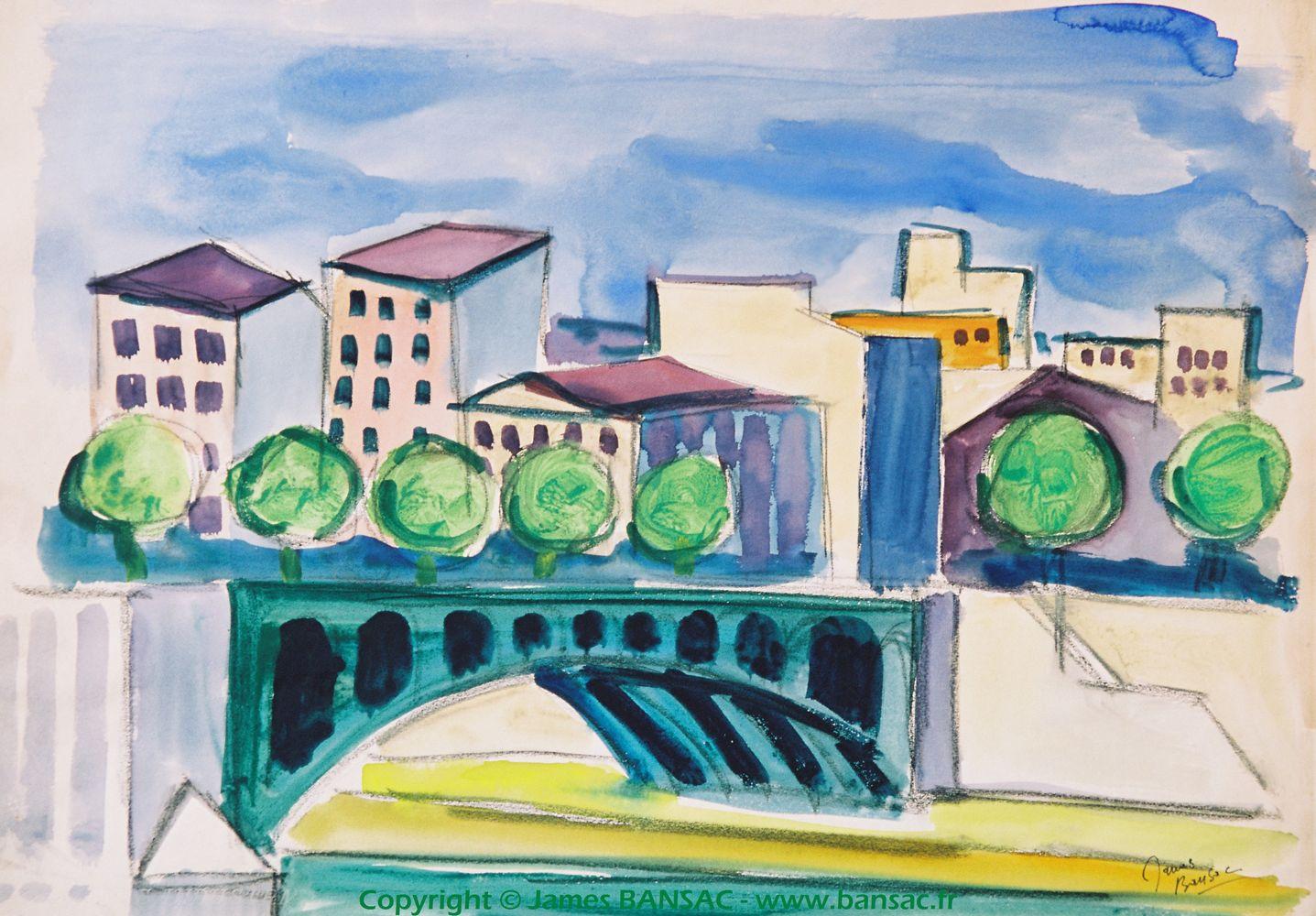 Pont de l'Université - 1945
