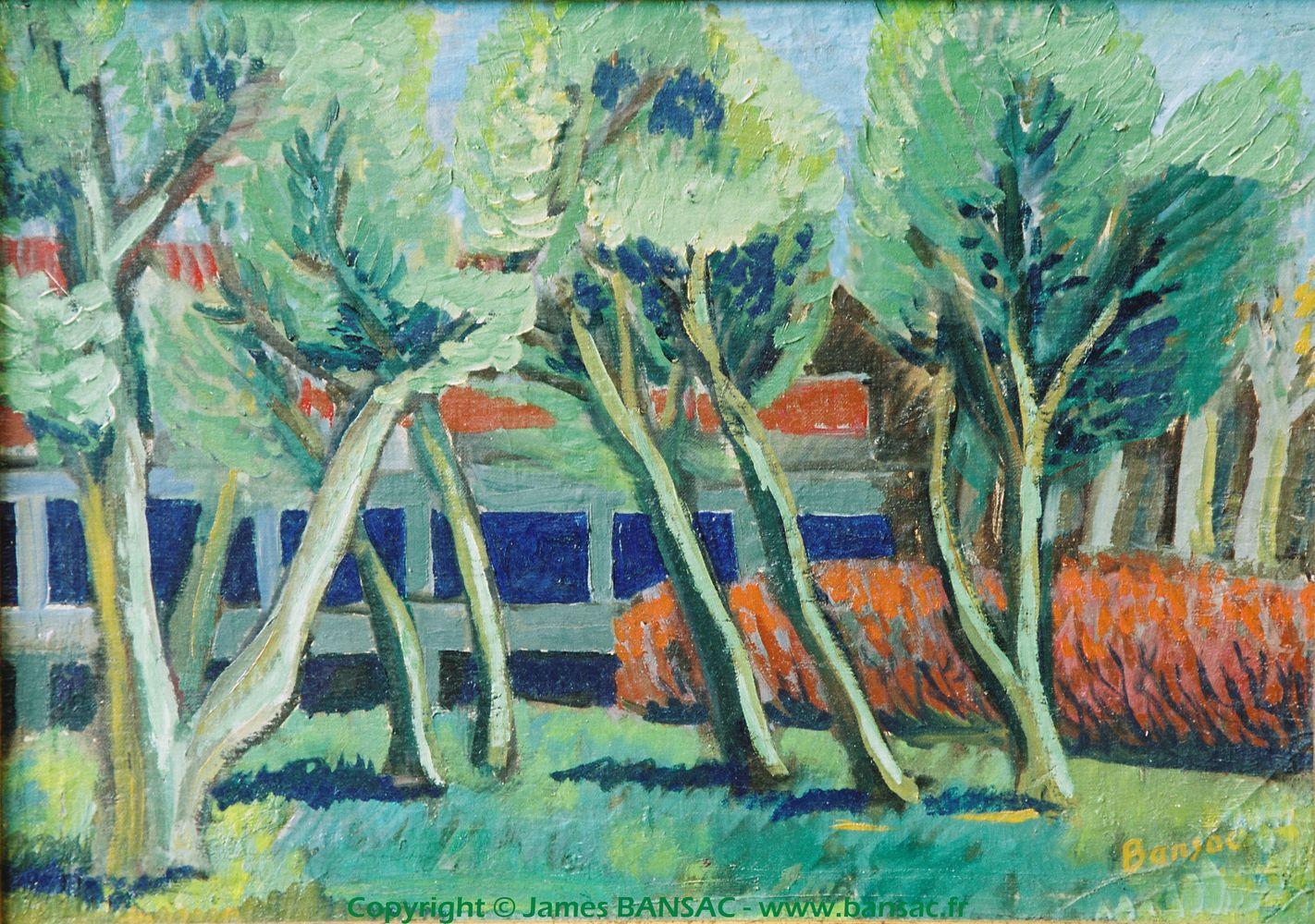 Quai du Rhône, derrière la foire - 1946