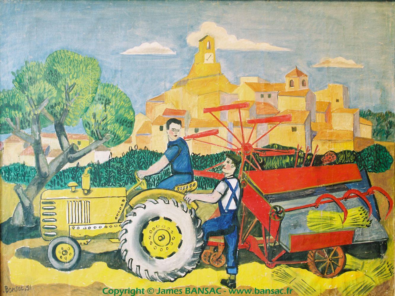Tracteur à Lourmarin - 1951