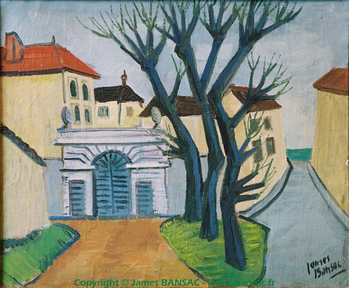 Le portail bleu à Fontaines-sur-Saône - 1944