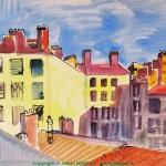 Cour d'immeubles, Rue Bossuet - 1945