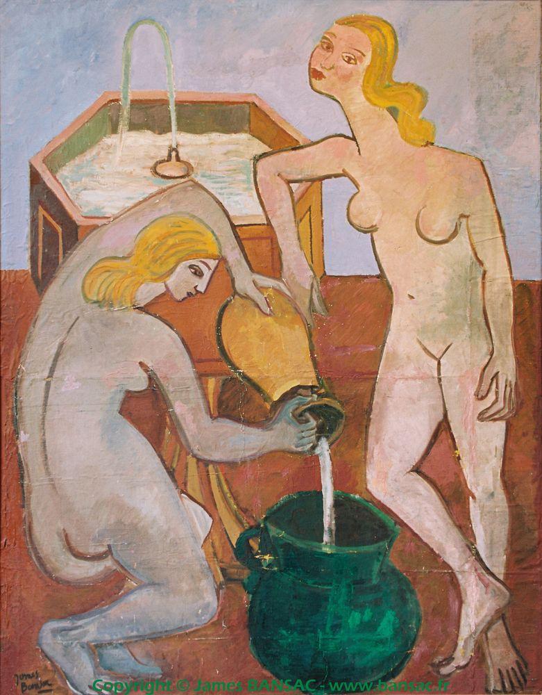 Deux nus à la fontaine - 1948