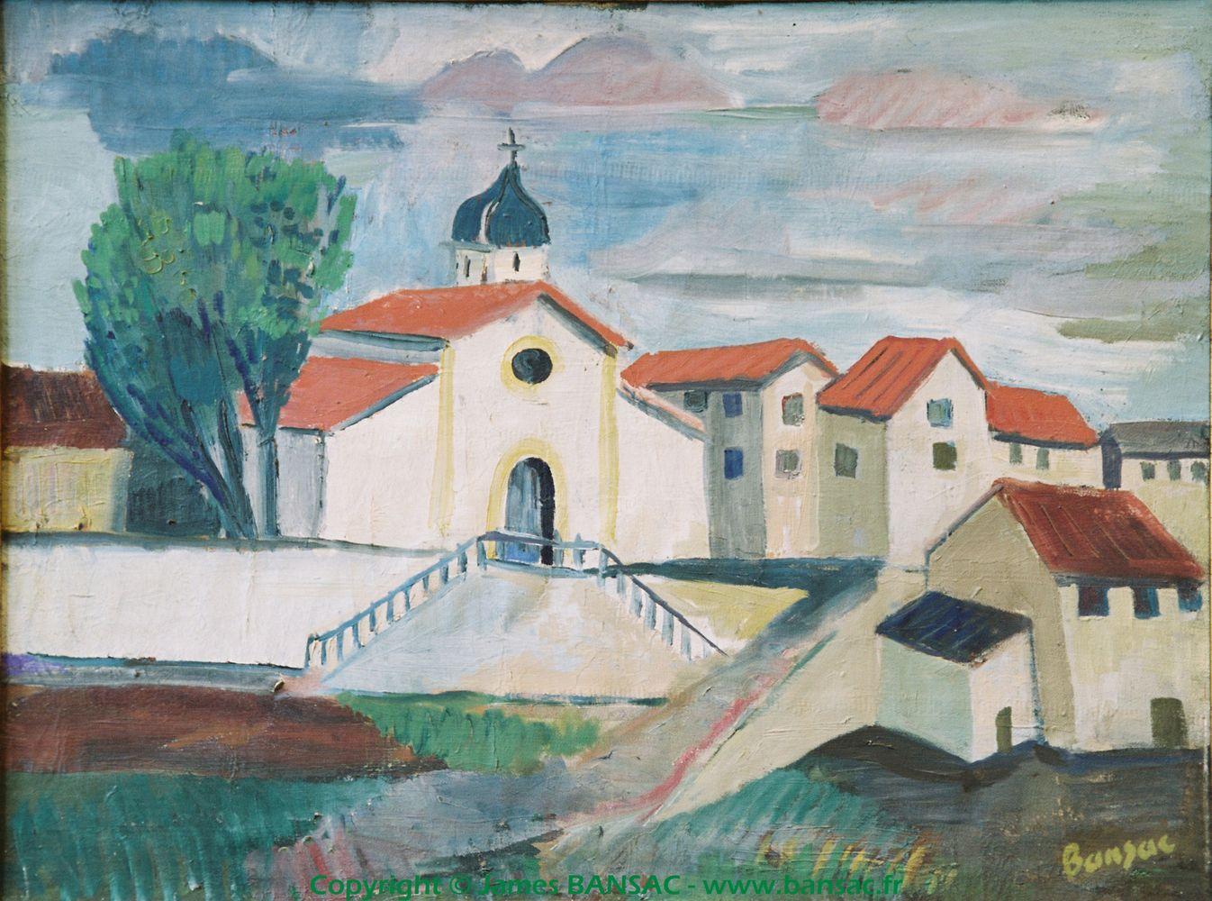 Eglise St Julien à Cusset - 1945