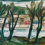Le Rhône à St Clair - 1945