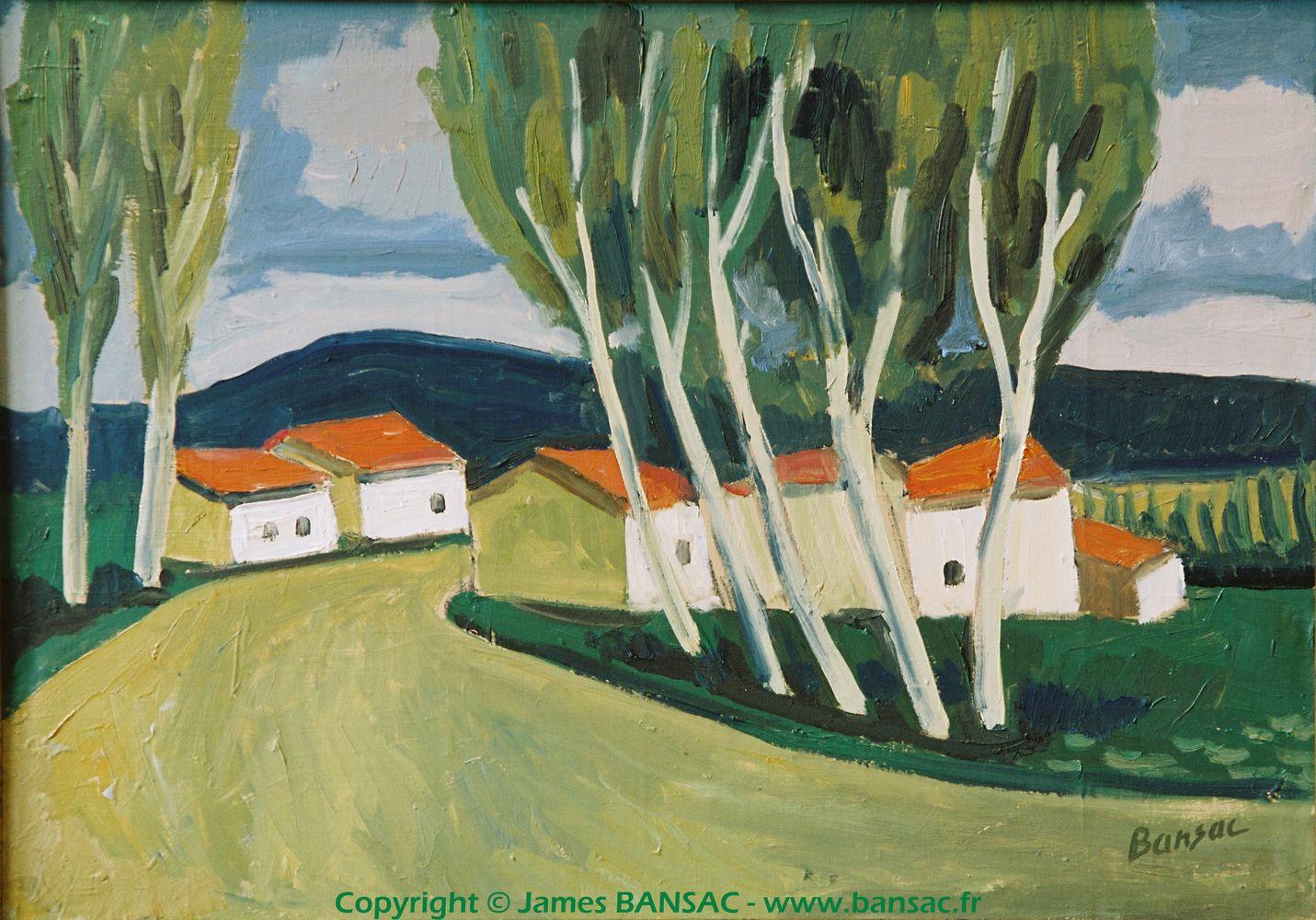 Paysage d'Isère vers St Chef - 1948