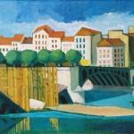Pont de l'Université démoli - 1946
