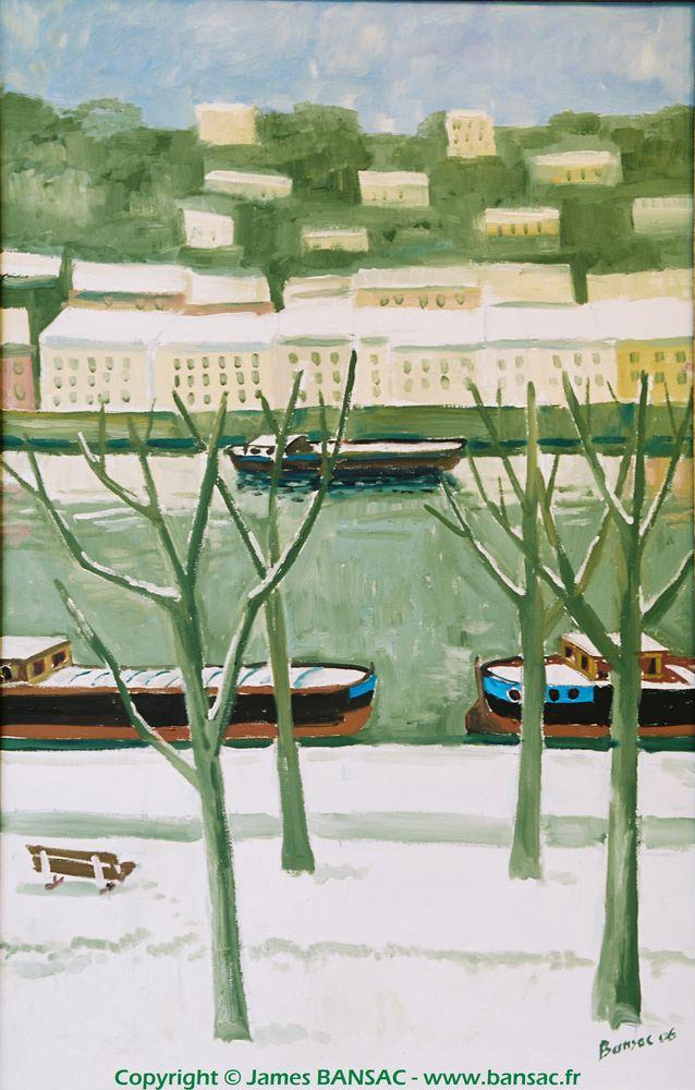 Quai Rambaud sous la neige - 2006